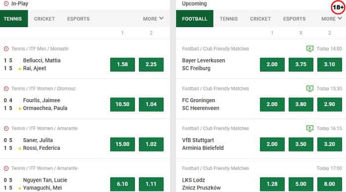 Unibet Sports Betting Market